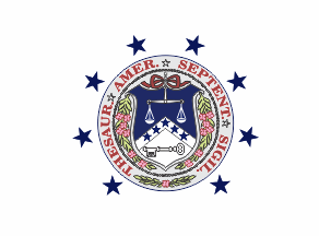 The former flag of the U.S. secretary of the treasury, originating from the 19th century. Flag of the United States Secretary of the Treasury (1887-1915).png