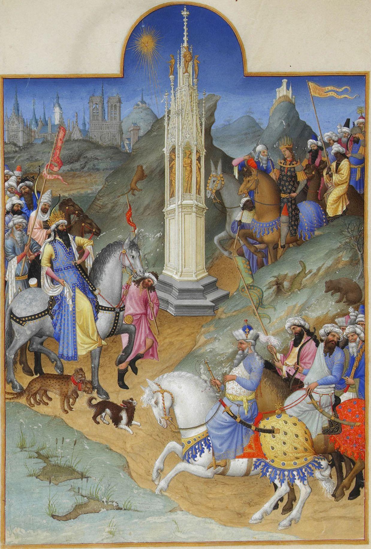 Pongan un cuadro en su vida - Página 15 Folio_51v_-_The_Meeting_of_the_Magi