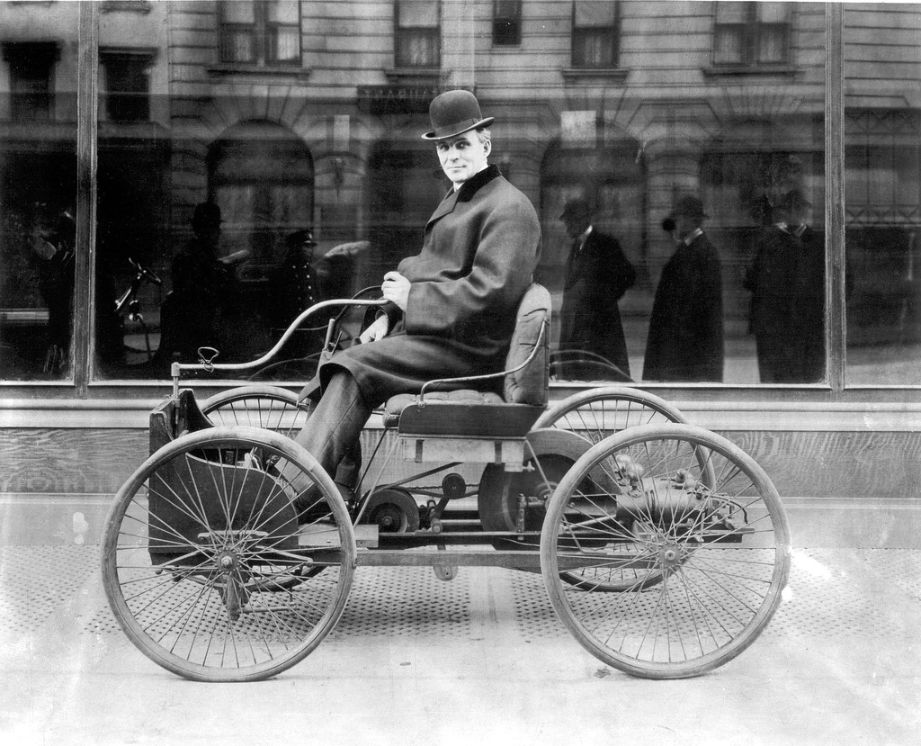 Image result for henry ford test drives his horseless carriage