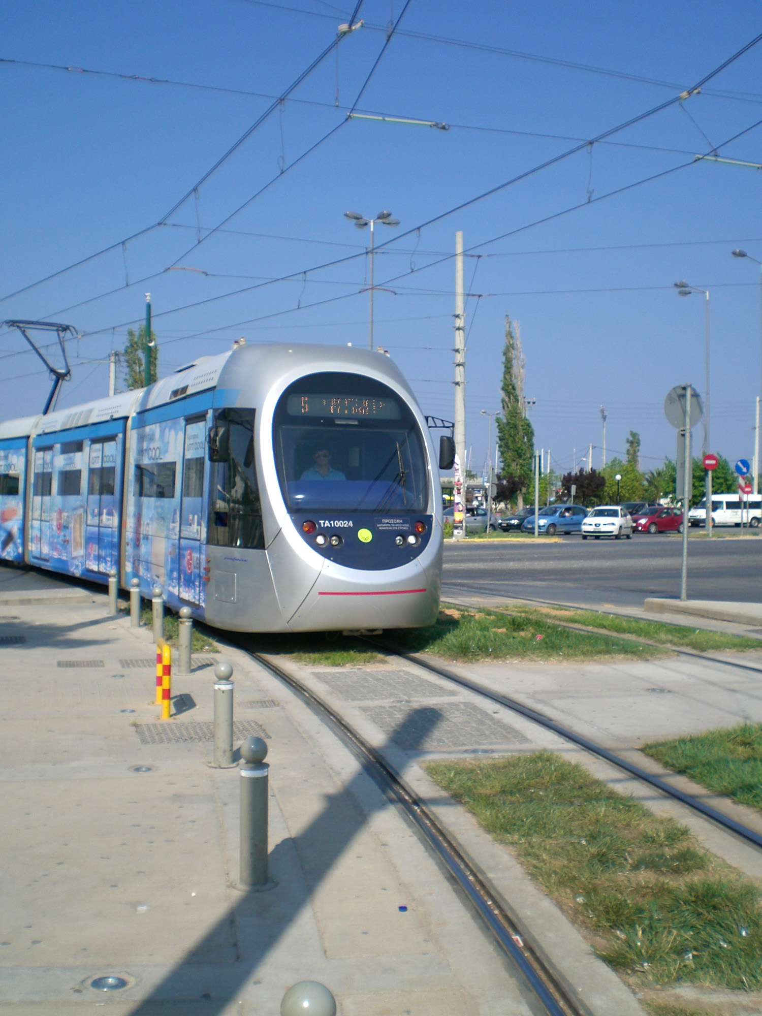 A tram en route to Glyfada