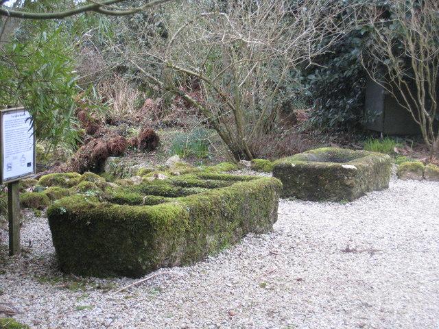 Granite tin moulds in Trewidden Garden - geograph.org.uk - 1170398