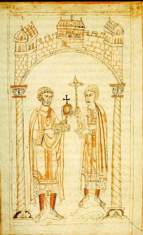 Entrega de los símbolos de poder de Enrique IV.