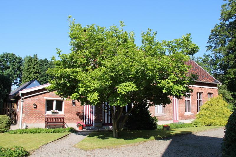 """Achteraf gelegen schoolgebouwtje van 1884 en 1913, gebouwd op beboomd terrein aan westzijde van de eerste vrije school (nummers 286-288). Nu verdeeld in twee woningen. Vanaf 1882 werd de vrije meisjesschool ook   toegankelijk voor jongens. Wegens plaatsgebrek werd in opdracht van baron Osy, eigenaar van het domein """"Oude Gracht"""", een klaslokaal gebouwd in 1884. Het lokaal van 1884 werd in 1913 uitgebreid met een tweede klaslokaal."""