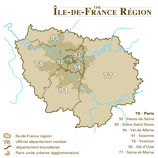 Paris is located in Île-de-France (region)