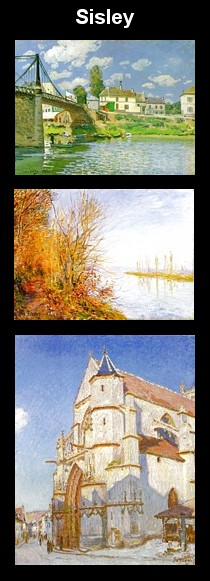 Paintings by Sisley.