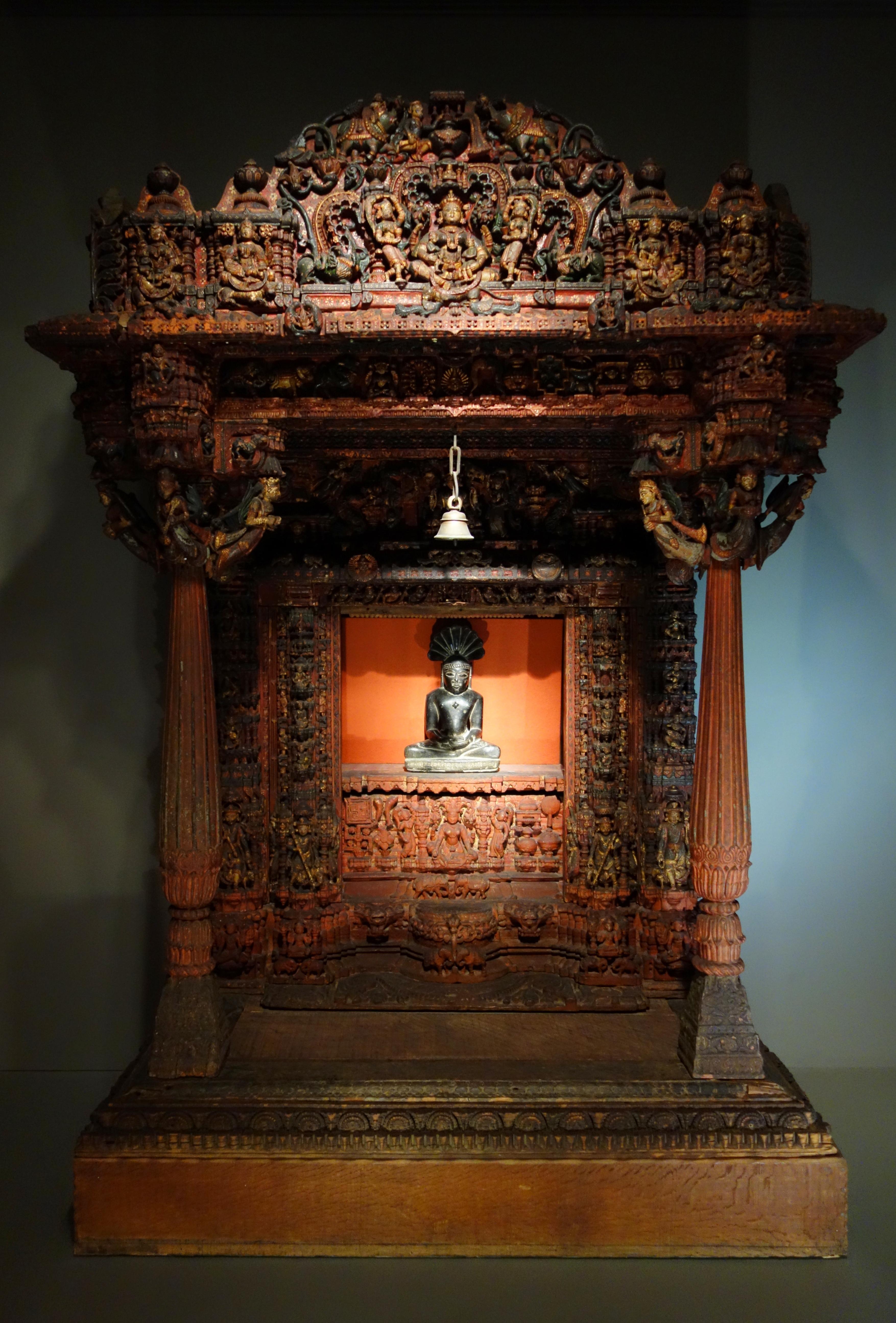 File:Jain shrine, Patan, Gujarat, India, early 17th ...