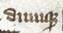 "John Gower world Vox Clamantis (cropped) - Scribal abbreviation ""dumq"" for ""dumque"".jpg"