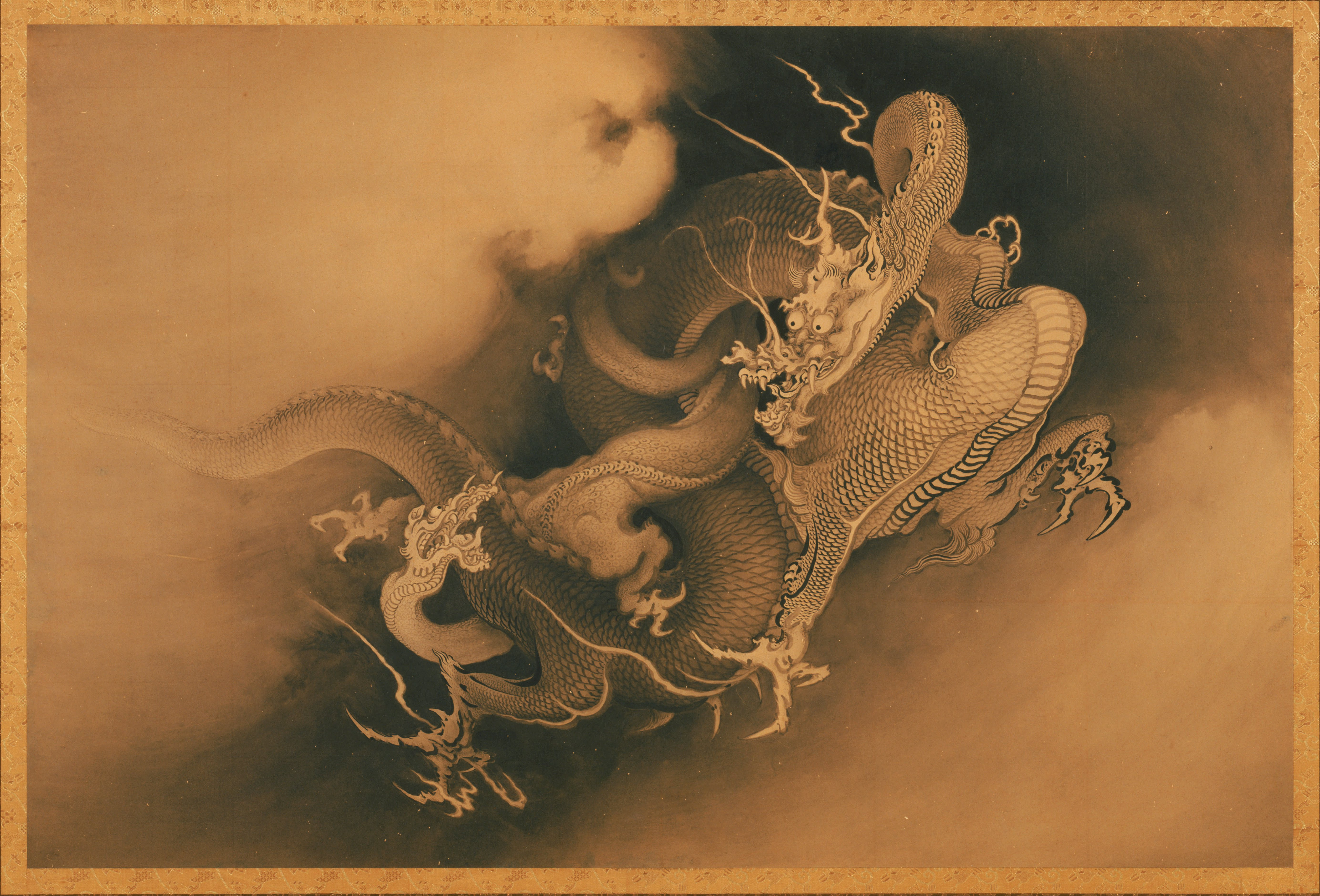Dragon Japanese Japanese Two Dragons in