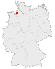 Bremerhavens beliggenhed i Tyskland
