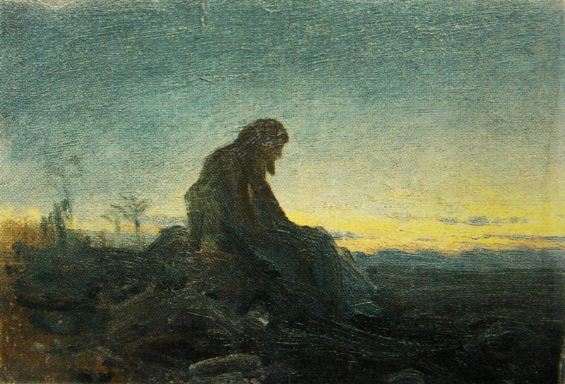 Kramskoi Christ in the Wilderness study gtg