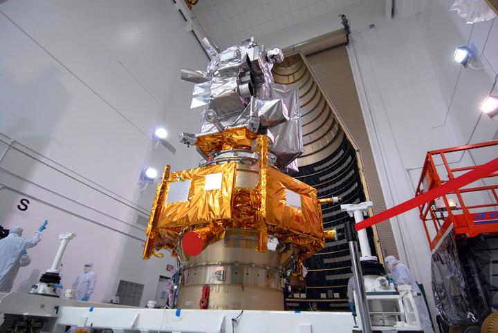 File:LCROSS LRO being prepared for fairing installation.jpg