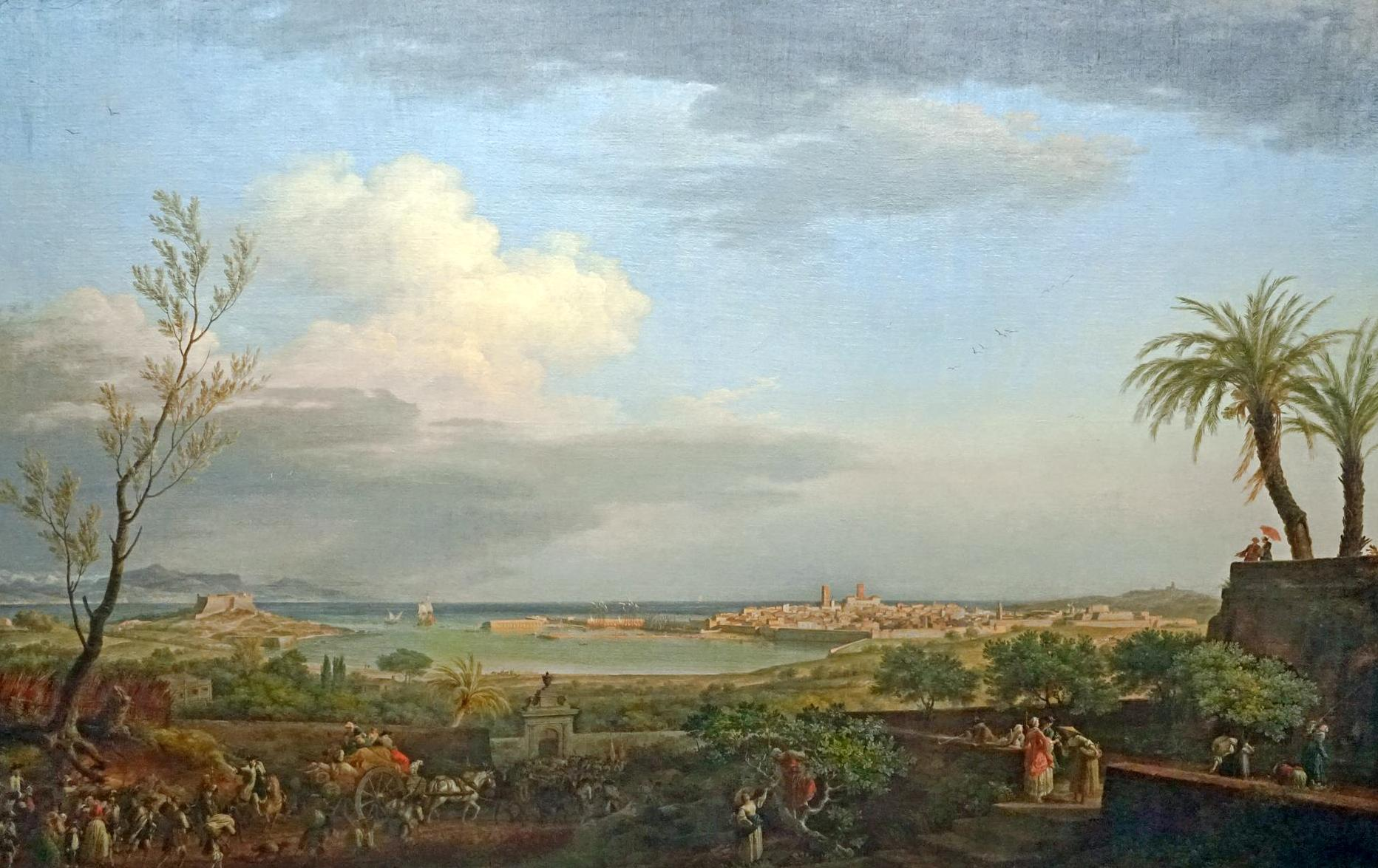 File la rade d 39 antibes par joseph vernet mus e national - Tableau du port de bordeaux par vernet ...