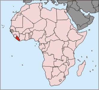 Liberia in comparison to all of Africa.