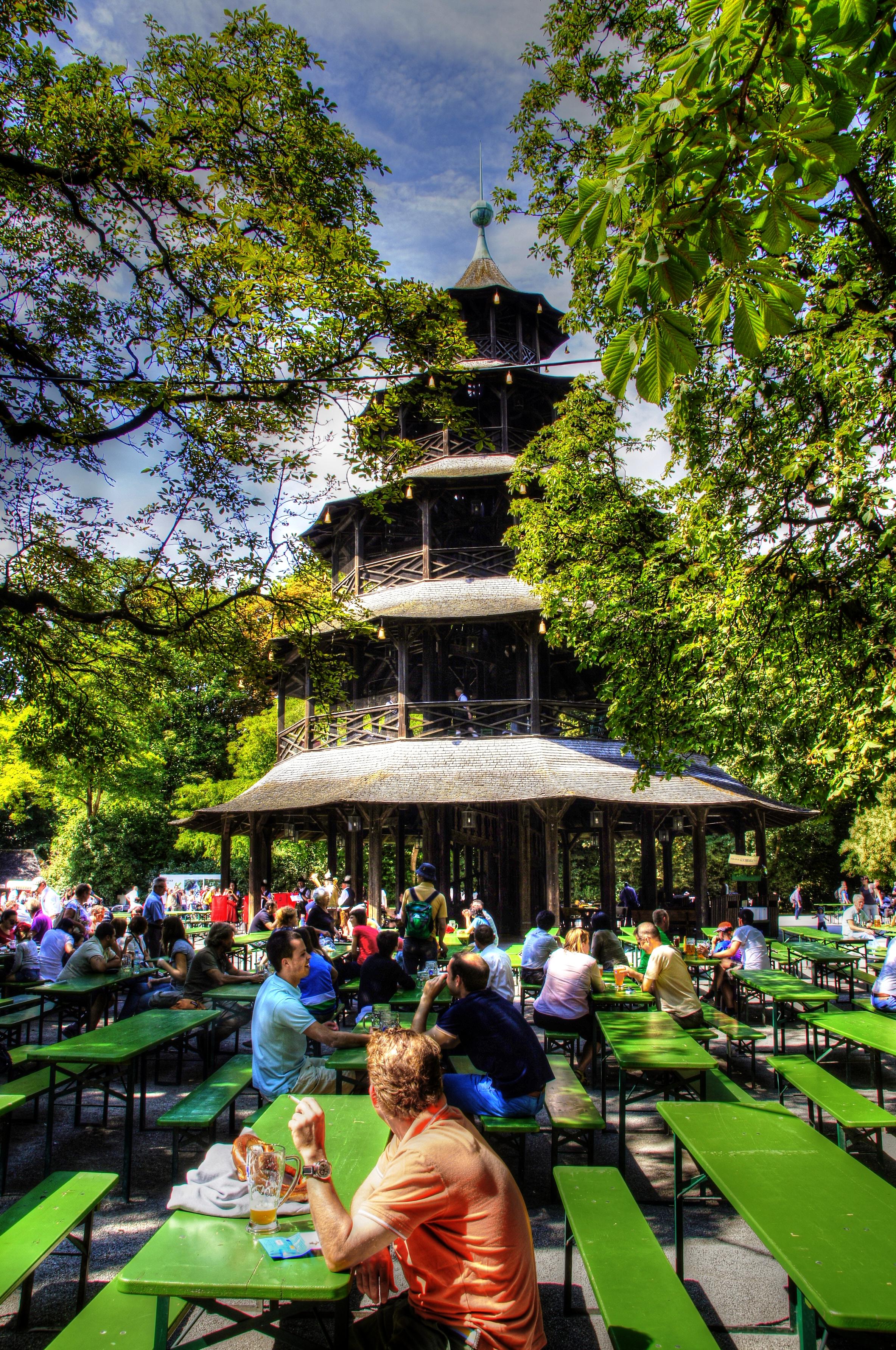 Filemünchen Englischer Garten Biergarten Am Chinesischem Turm