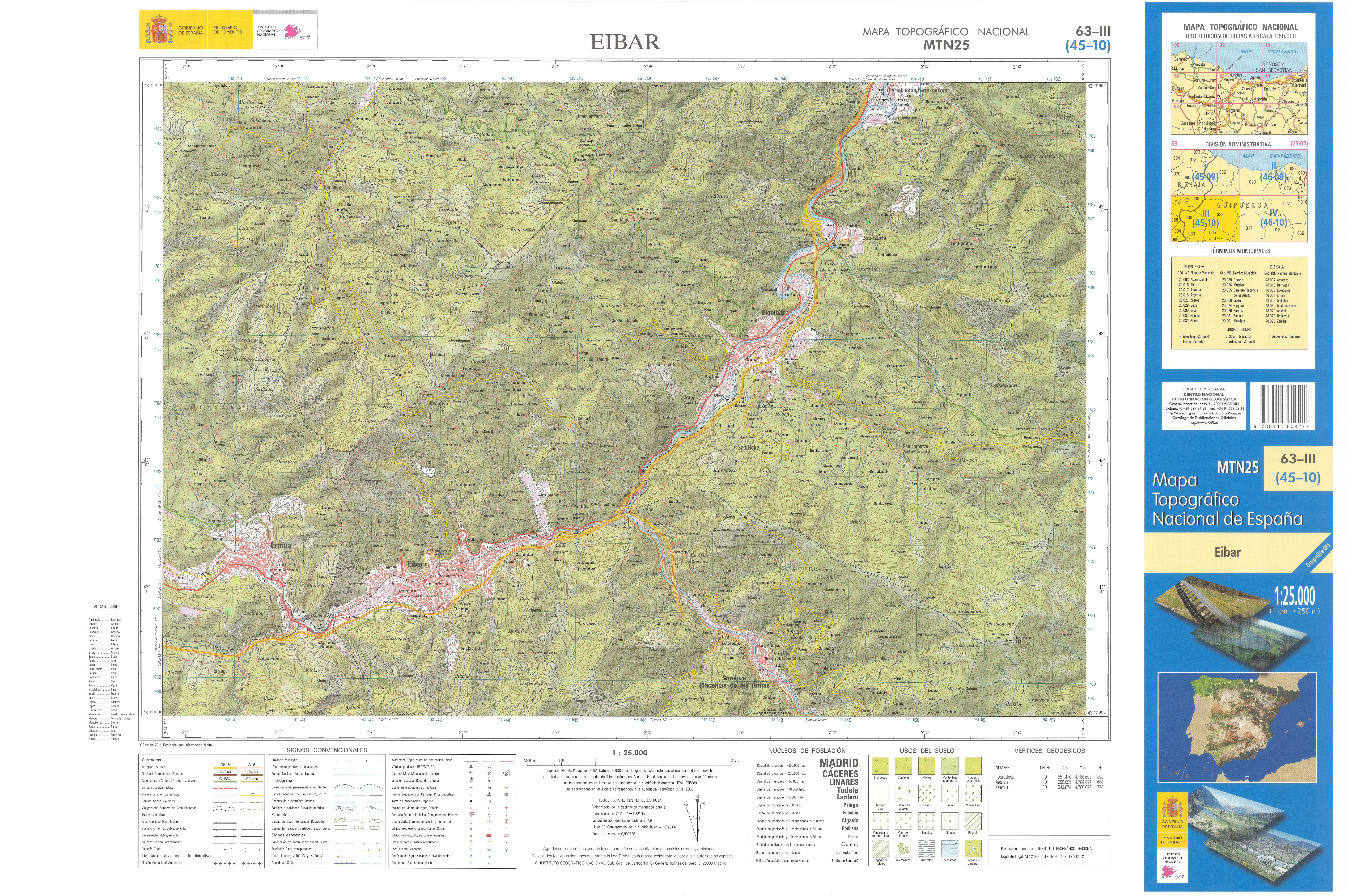 Map Of Spain Eibar.File Mtn25 0063c3 2011 Eibar Jpg Wikimedia Commons