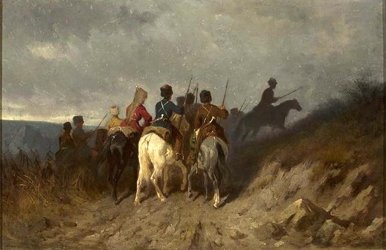 https://upload.wikimedia.org/wikipedia/commons/a/a3/Maksymilian_Gierymski_Zwiad_kozak%C3%B3w_kuba%C5%84skich_1868-1869.jpeg