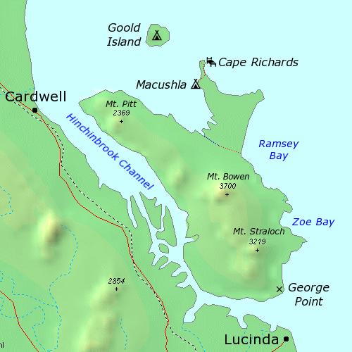 Hinchinbrook Island Fishing Maps