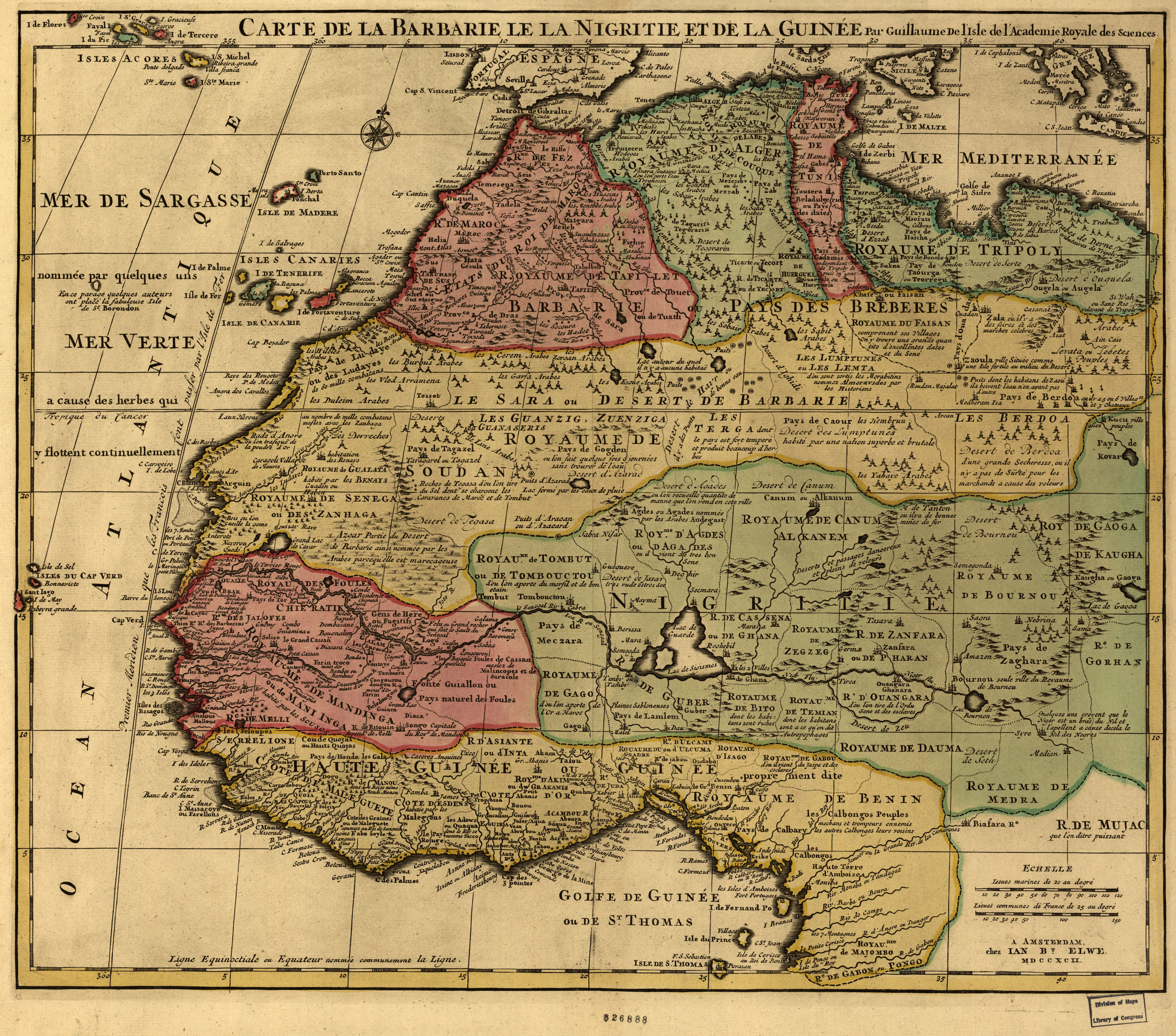 Datei:Map of Africa 1742 - Carte de la barbarie le la ...