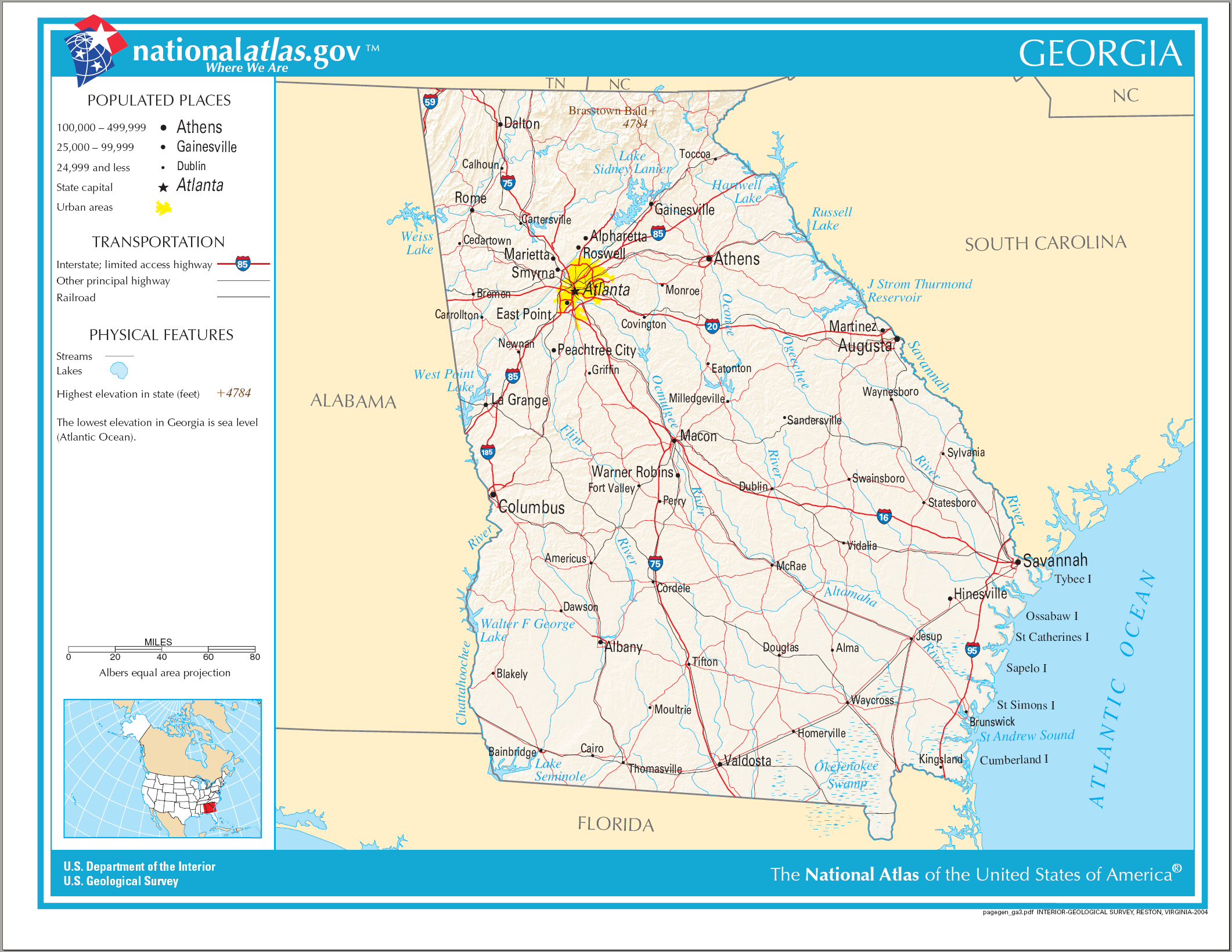 FileFlagmap Of Georgia US Statesvg Wikimedia Commons USA Map - Atlanta on the us map