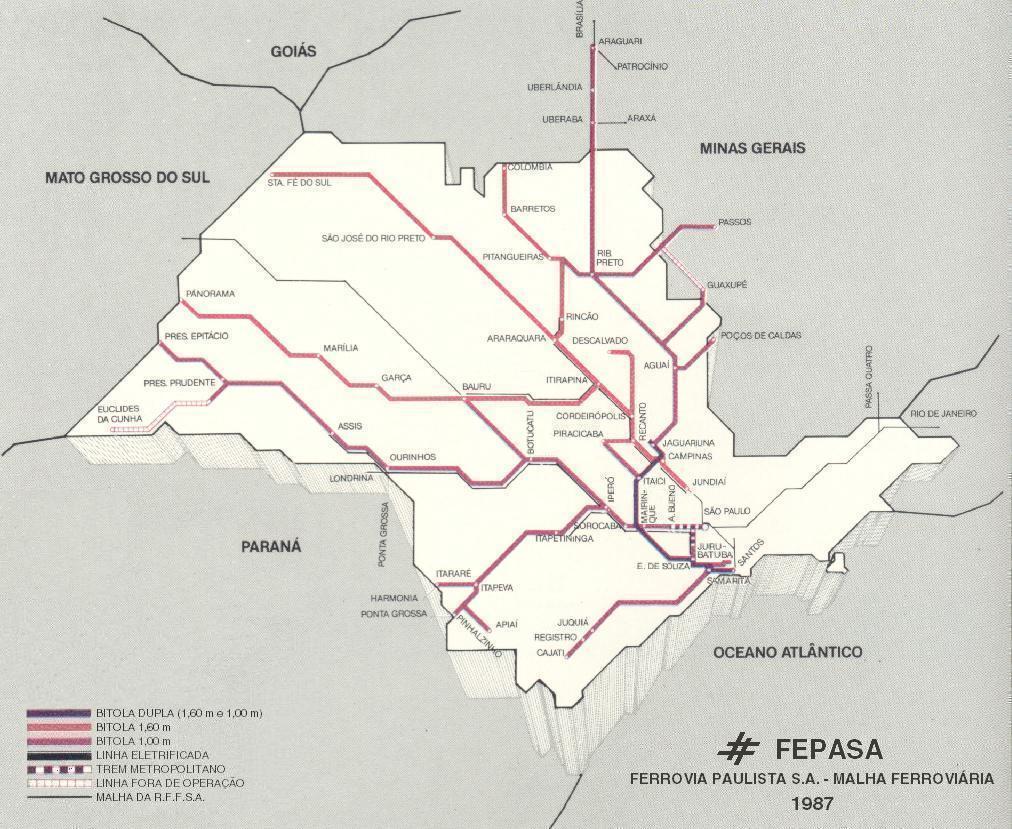 Mapa - Malha Ferroviária da FEPASA - 1987.jpg