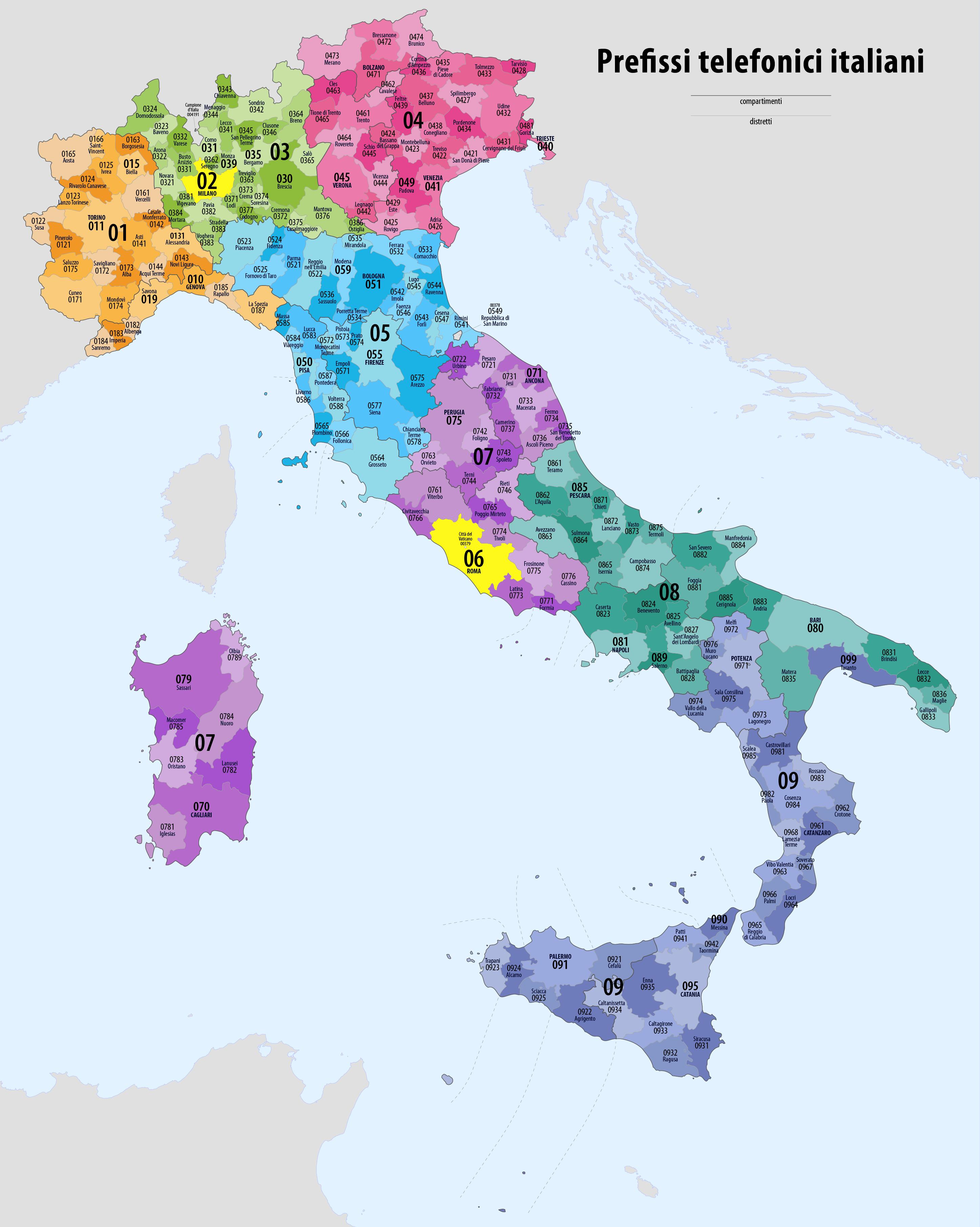 separation shoes 8b492 859ef Prefissi telefonici italiani - Wikipedia