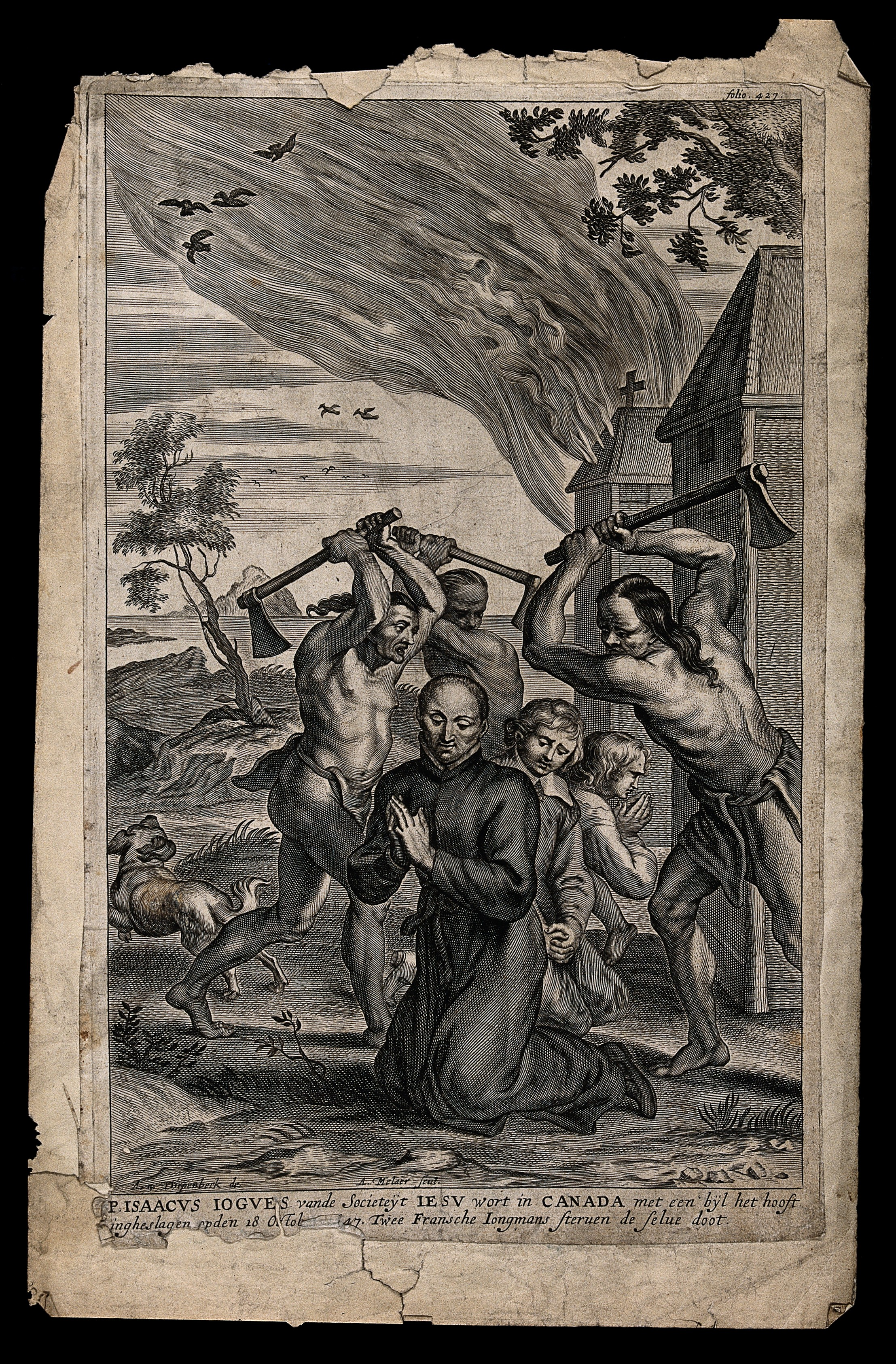 https://upload.wikimedia.org/wikipedia/commons/a/a3/Martyrdom_of_Father_Isaac_Jogues_S.J._Engraving_by_A._Malaer_Wellcome_V0032209.jpg