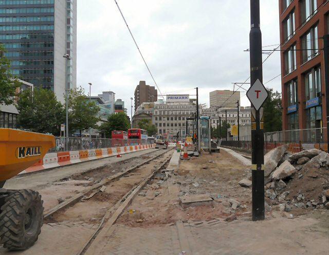 Metrolink Renovations at Piccadilly Gardens - geograph.org.uk - 1442653.jpg