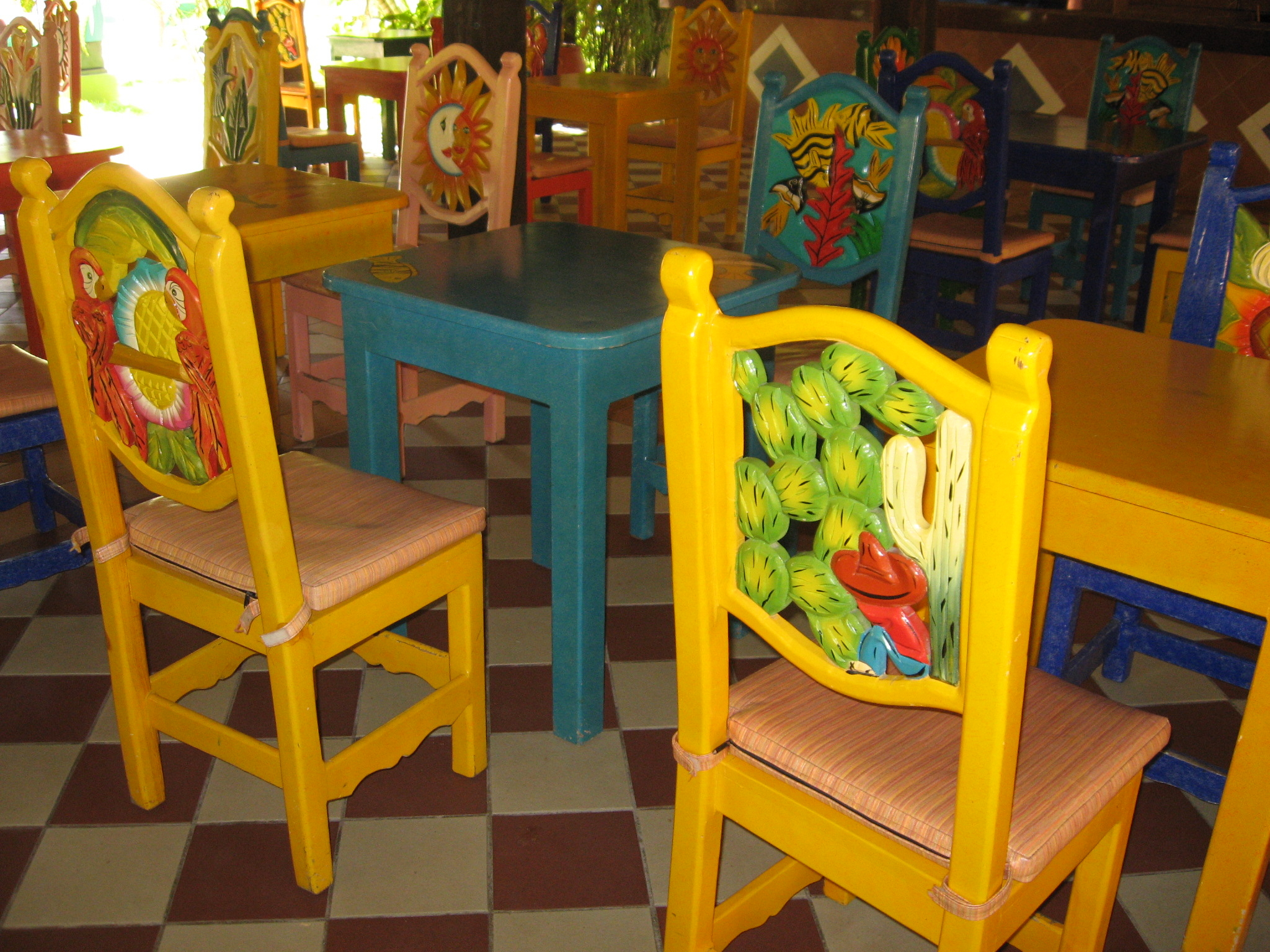 Hand Painted Stools For Kitchen