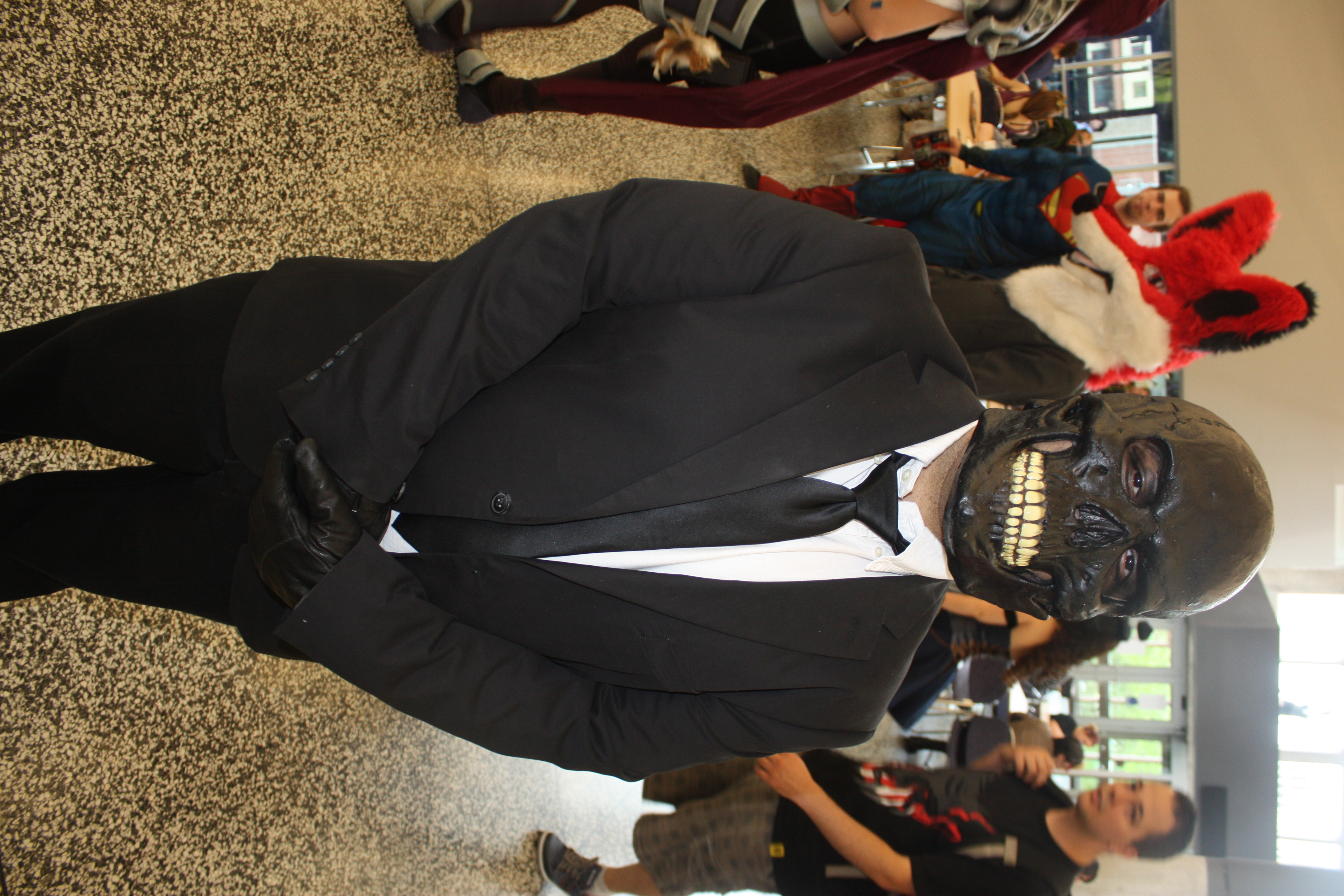 Black Mask (19462840011).jpg Cosplay one day two of Montreal Comiccon 2015. Date 4 July 2015, 14:38 Source Montreal Comiccon 2015: Black Mask Author