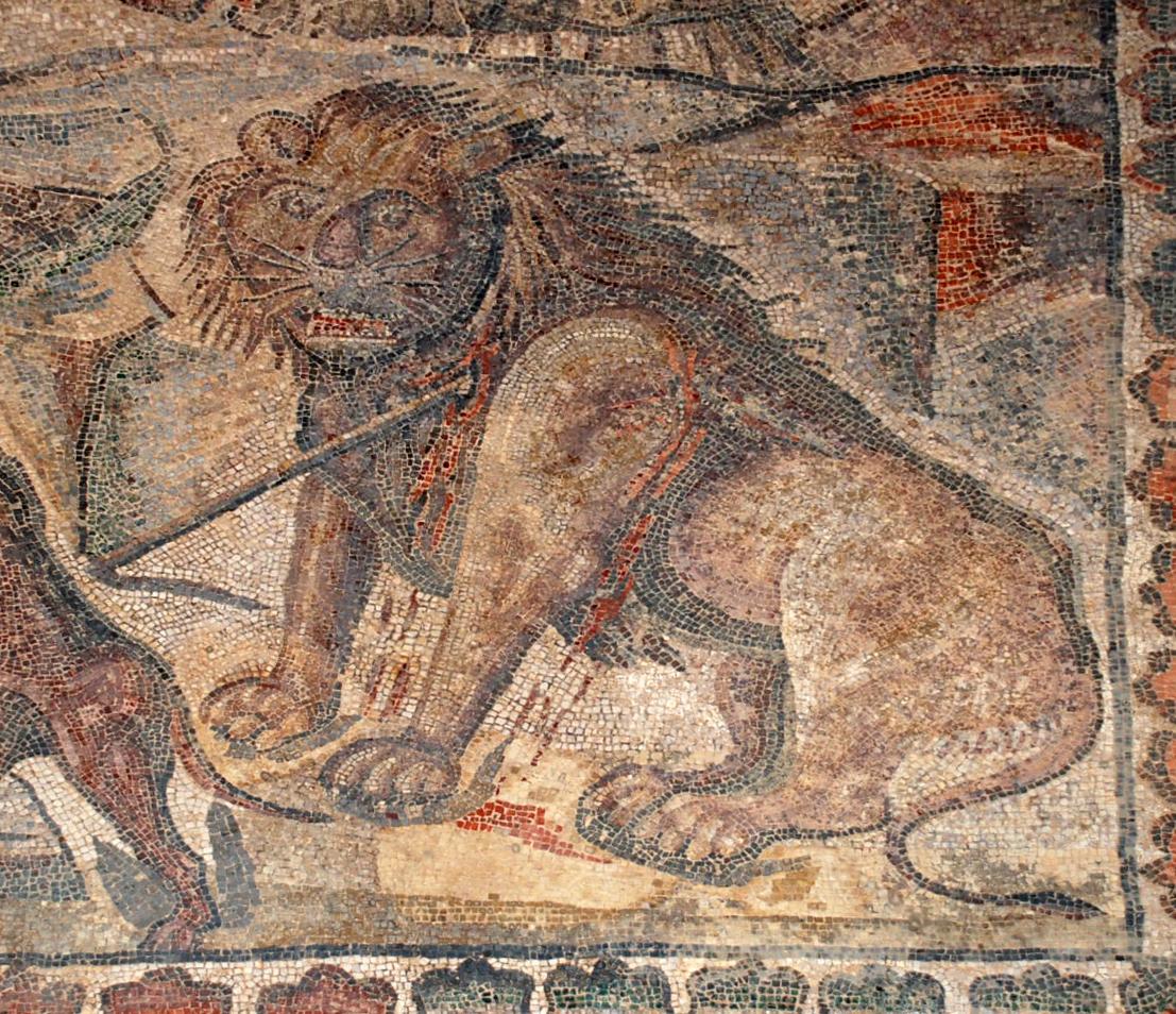 File mosaicos romano villa romana la olmeda 010 for Mosaico romano