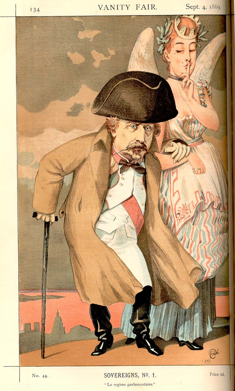 Sovereigns No.1: Caricature of Napoleon III. C...