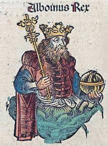 Alboin, Langobardenreich, König