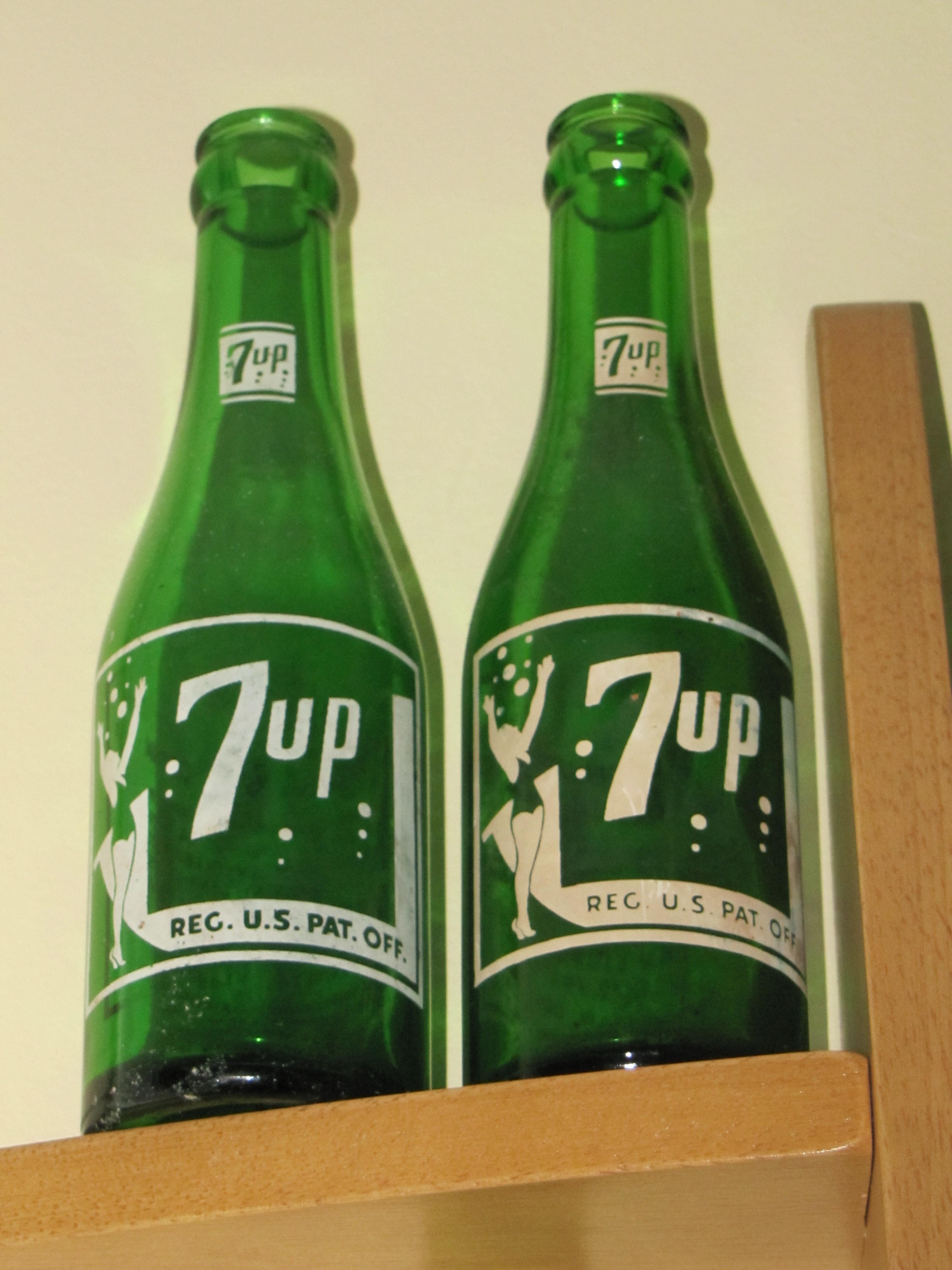 Antique 7 Up Bottles