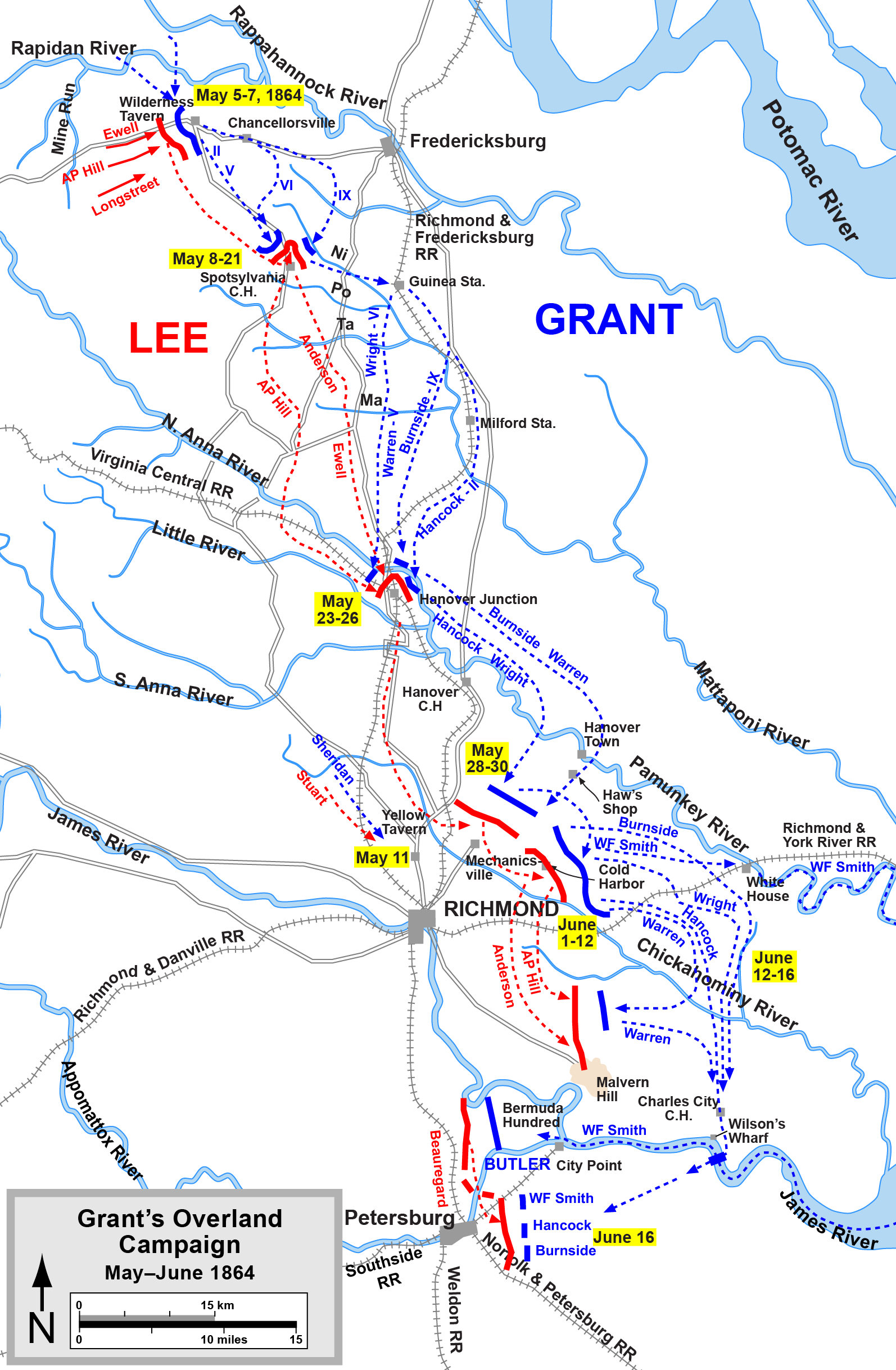 the civil war summary analysis grant launched his overland campaign