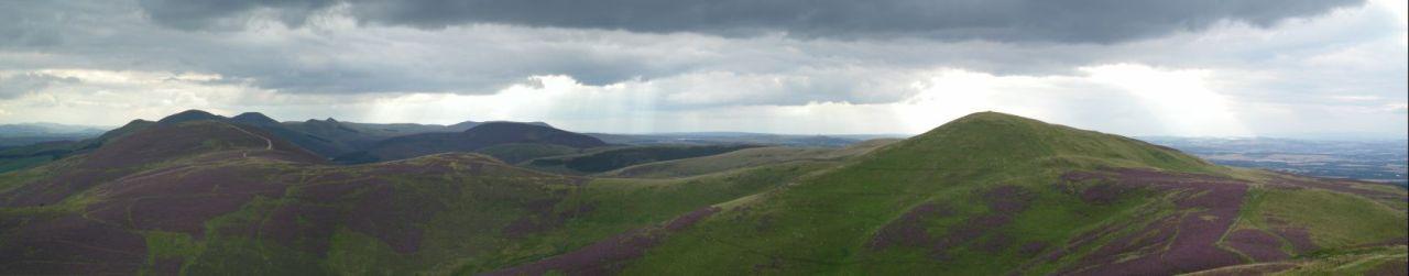 The Pentland Hills seen from Caerketton Hill