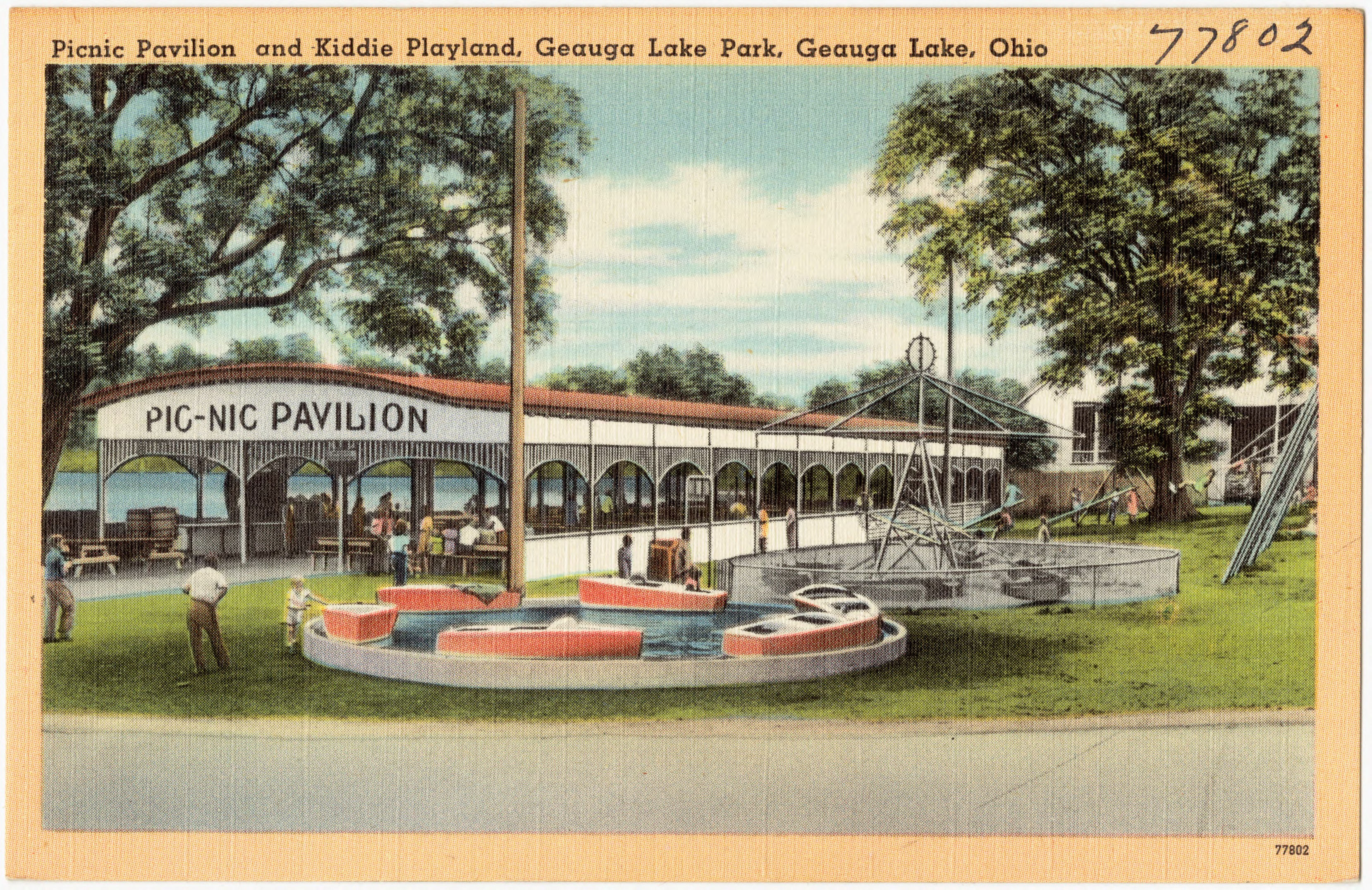 File:Picnic Pavilion and Kiddie Playland, Geauga Lake Park, Geauga