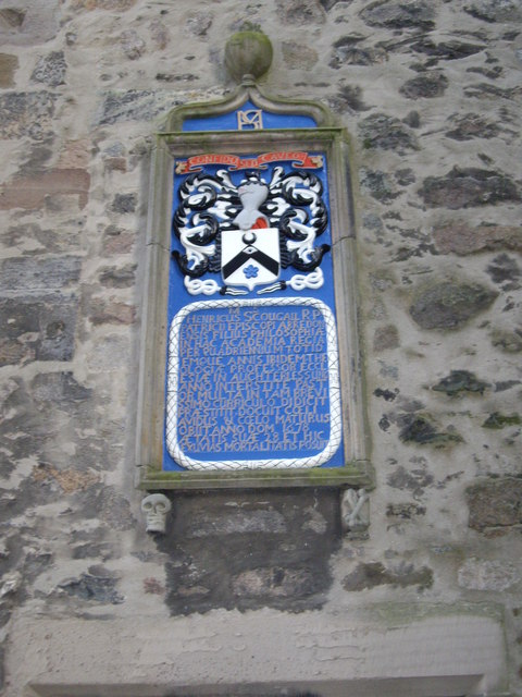 Plaque to Henry Scougal in [[King's College, Aberdeen