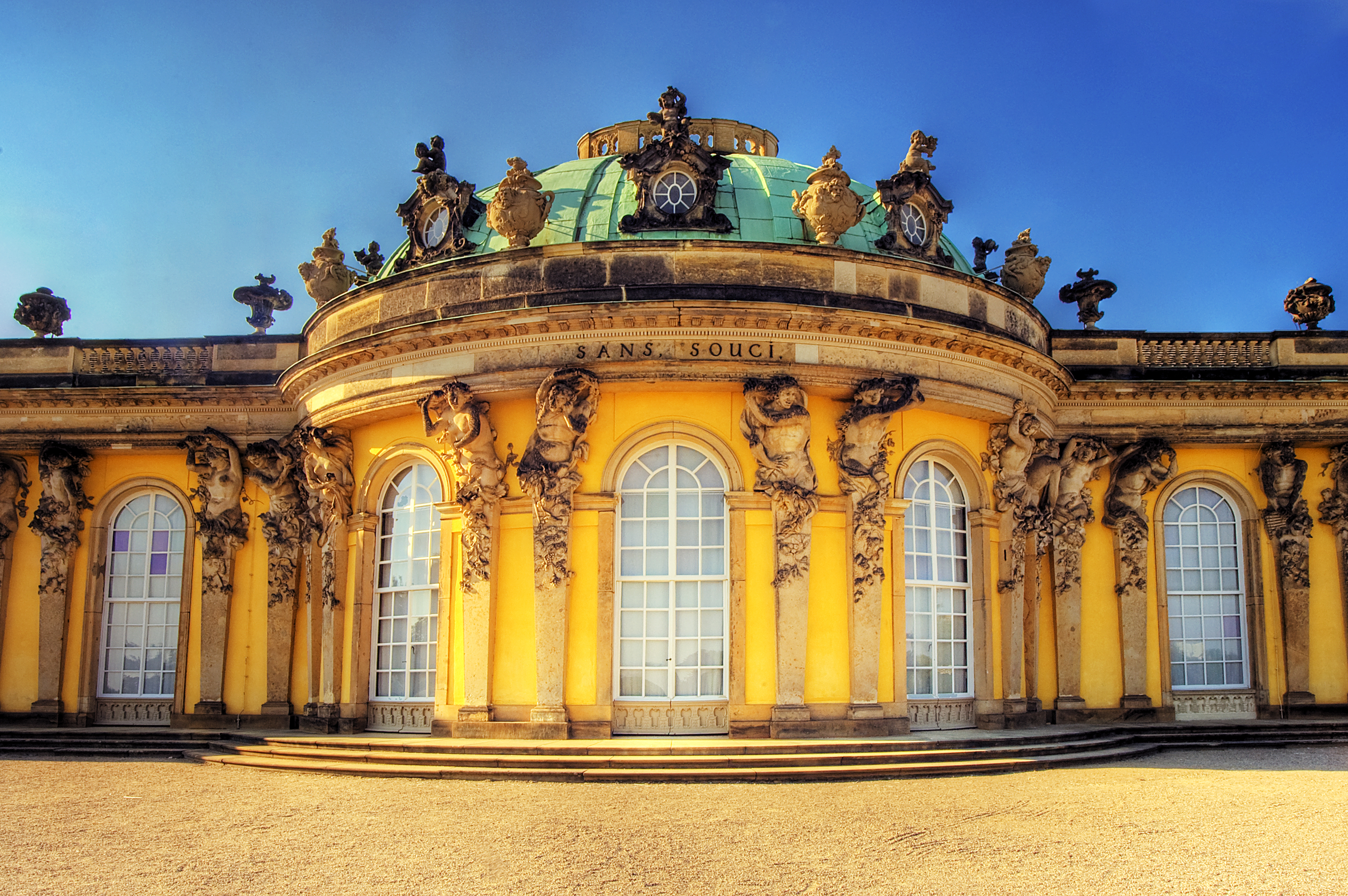 Sanssouci Palace, the former summer palace of Frederick the Great, today a World Heritage site