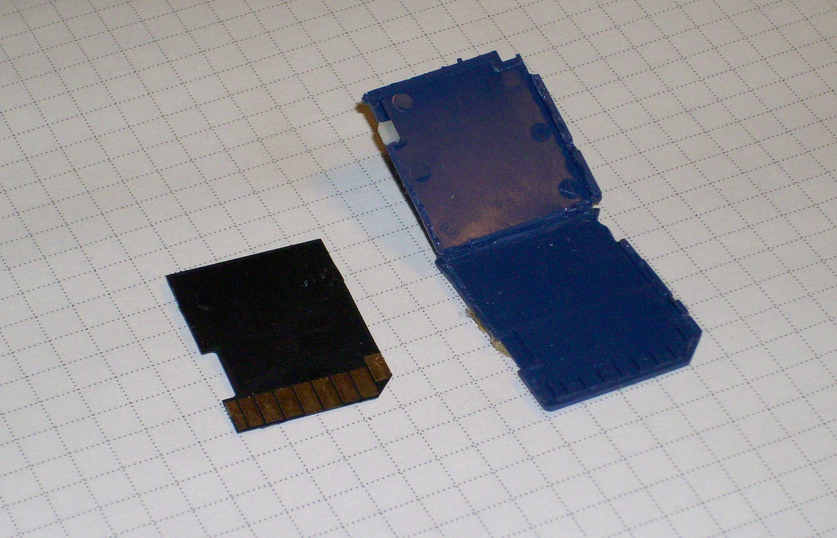 Out Cards For Files File:sd Card Open on Square