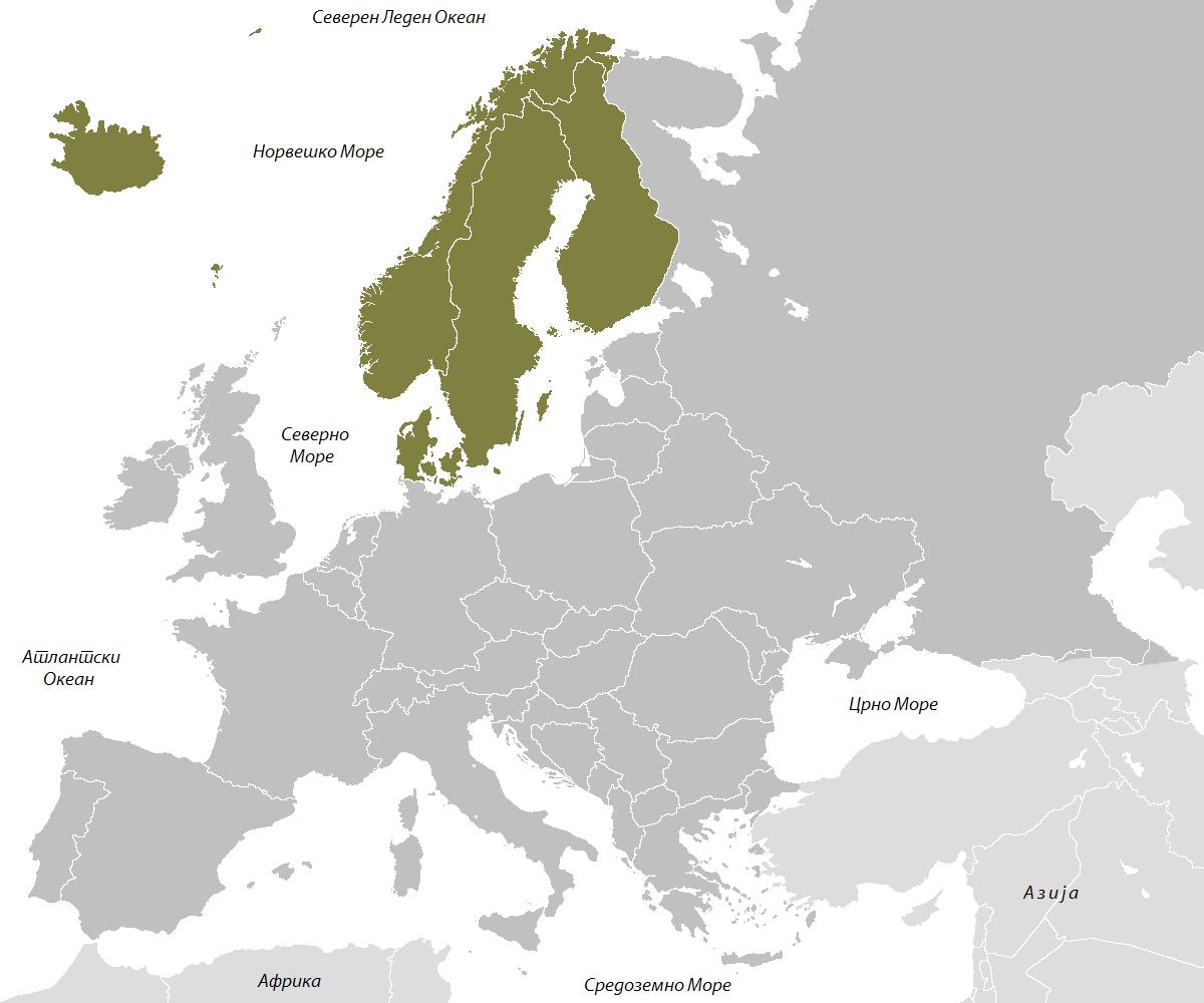 mapa evrope putevi Severna Evropa   Jelena geografija mapa evrope putevi