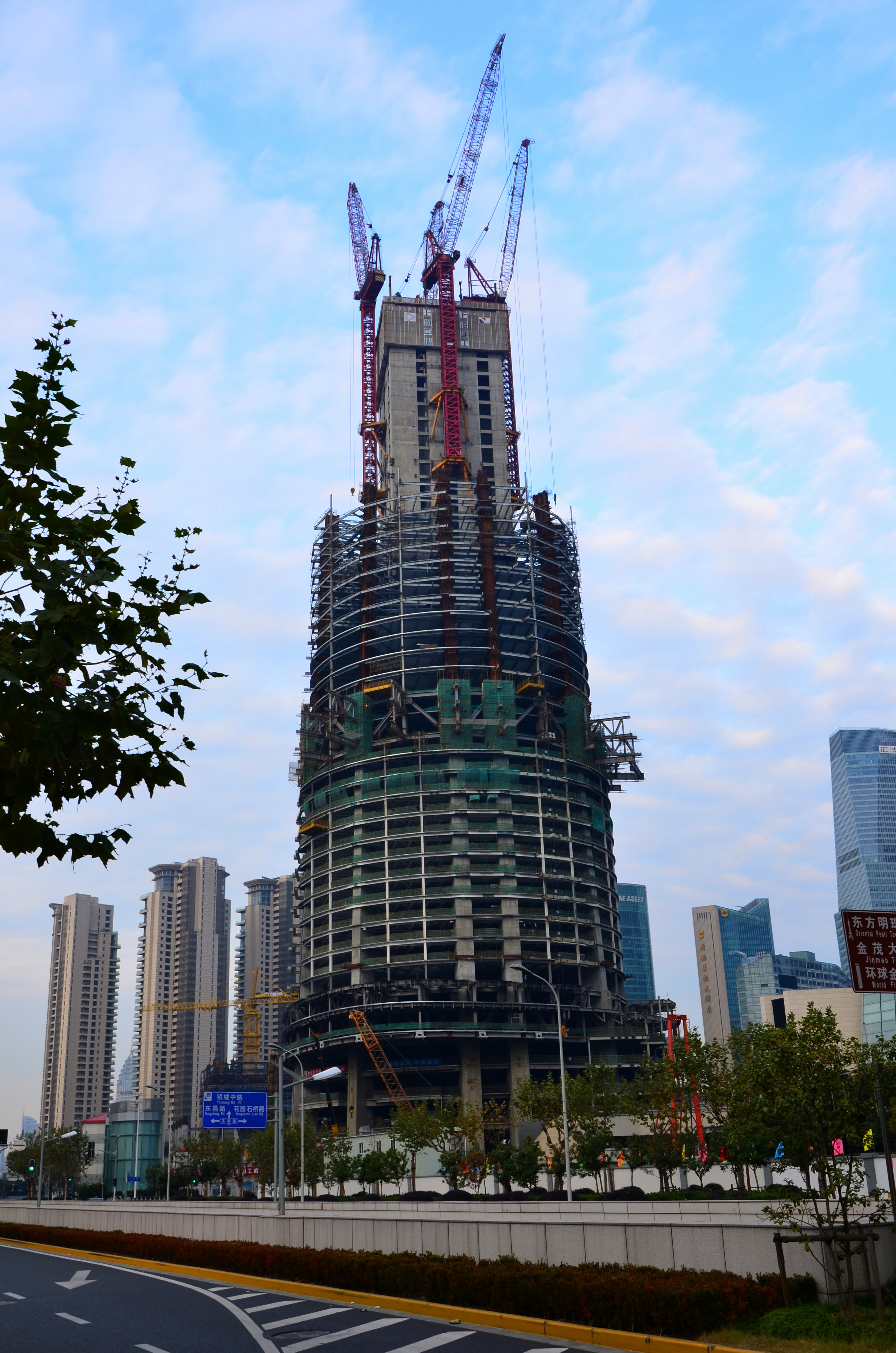 Construction, newest Images of Shanghai Tower building 上海中心大厦