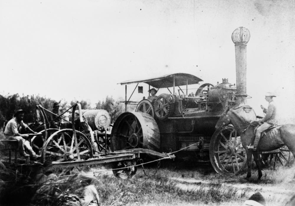 File Statelibqld 1 175327 Steam Plough Operating On