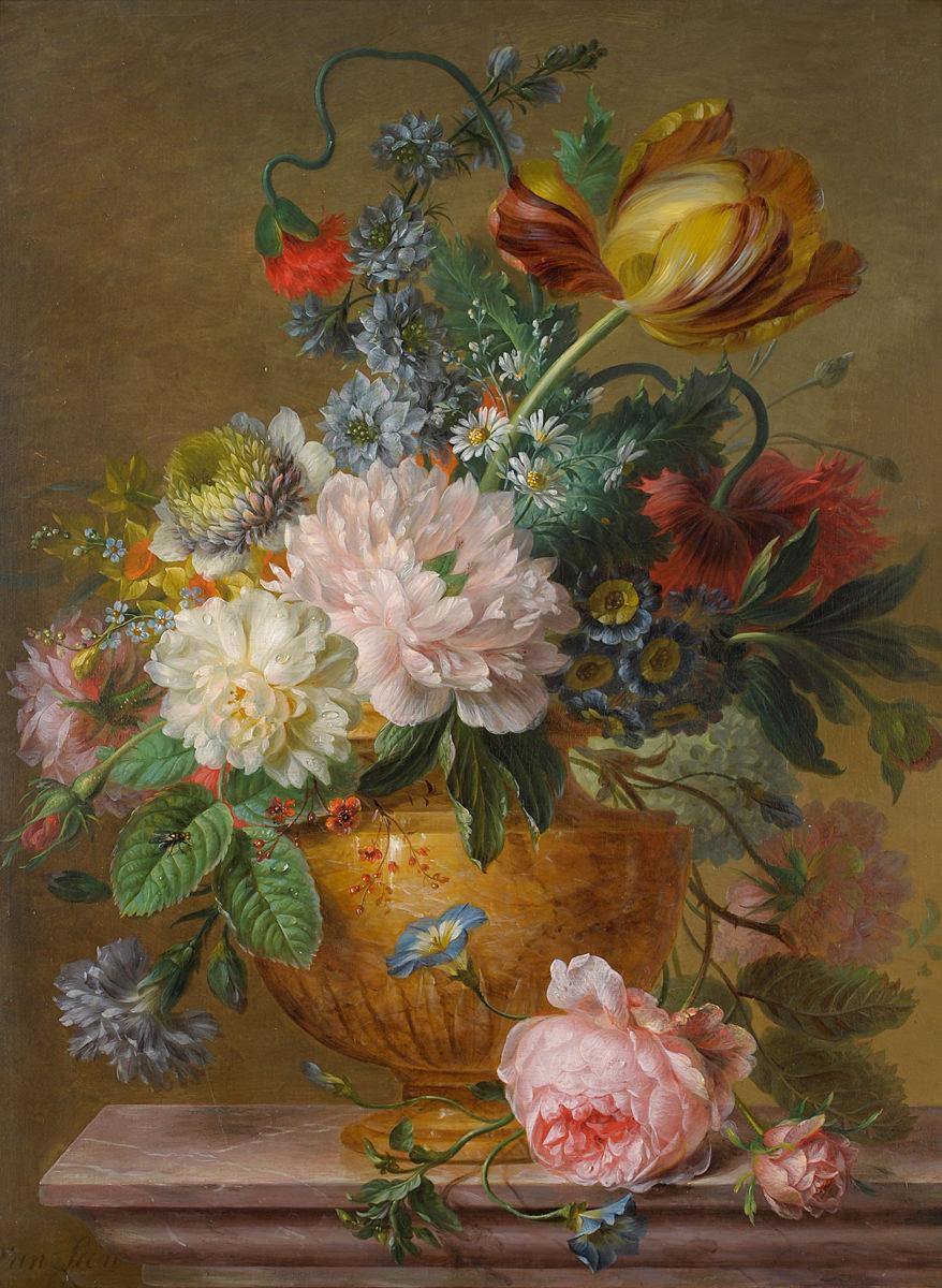 German Floral Oil Paintings