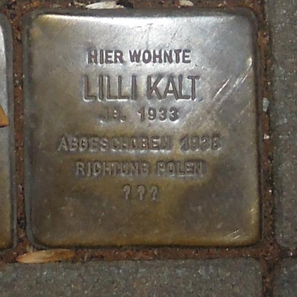 Stolperstein Dortmund Burgholzstraße 40 Lilli Kalt