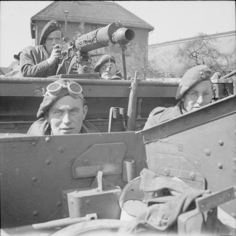 The crew of a Universal carrier