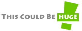 English: ThisCouldBeHUGE.com Logo for online d...