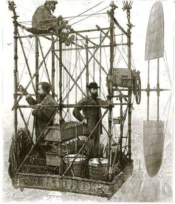 historisches Flugzeug um 1890 - Quelle: WikiCommons