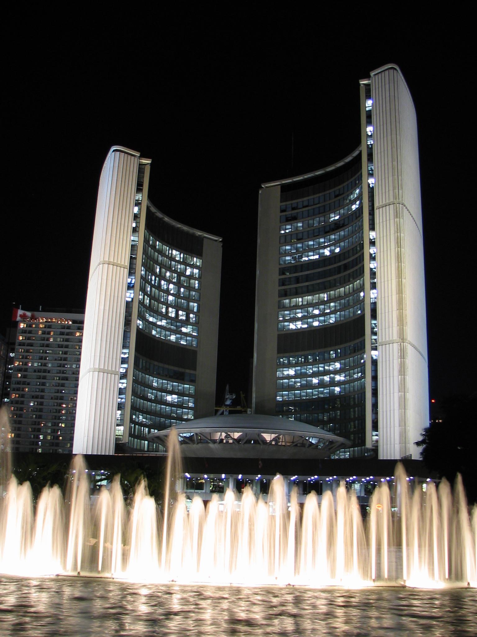 File:Toronto City Hall at night.jpg