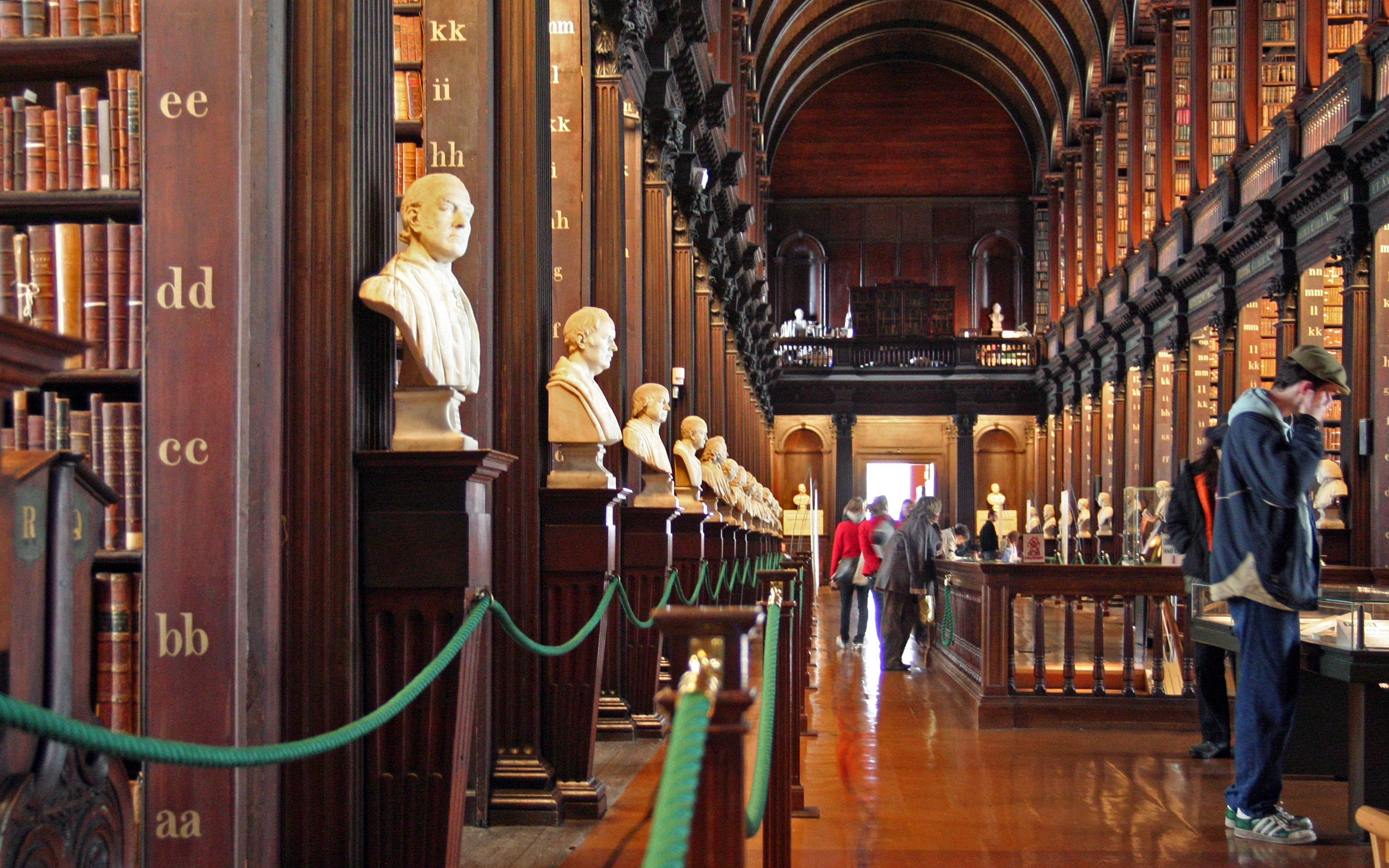 Description trinity college library long room