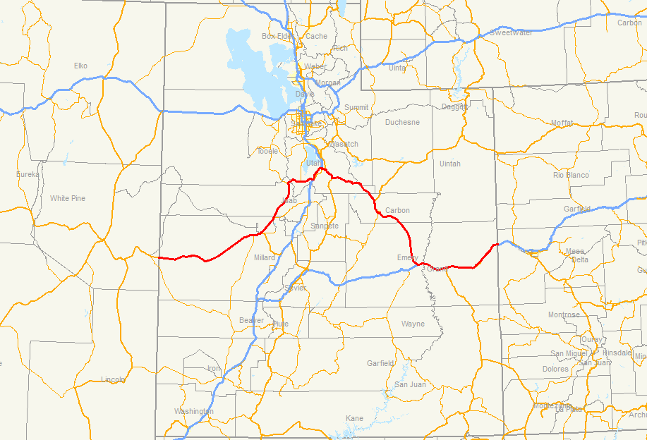 Us Route Map Globalinterco - Us route 6 map